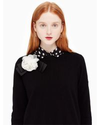 Kate Spade - Black Rosette Bow Sweater - Lyst