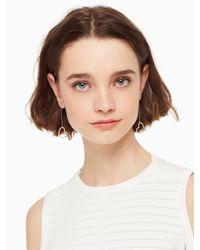 Kate Spade - Metallic Yours Truly Pave Heart Linear Earrings - Lyst