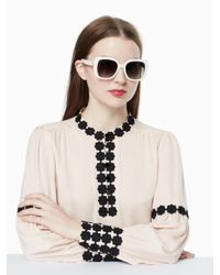 Kate Spade - White Krystalyn Sunglasses - Lyst