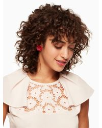 Kate Spade - Multicolor Rosy Posies Statement Studs - Lyst