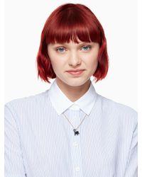 Kate Spade - Multicolor Ma Chérie Antoine Dog Mini Pendant - Lyst