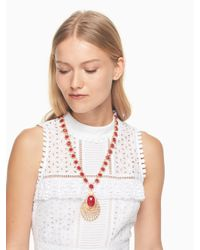 Kate Spade - Red On The Rocks Statement Necklace - Lyst