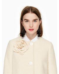 Kate Spade - Natural Tweed Corsage Coat - Lyst