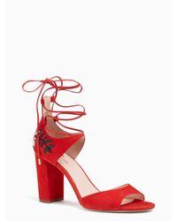 Kate Spade | Red Oasis Heels | Lyst