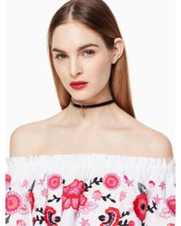 Kate Spade - Multicolor One In A Million Initial Choker - Lyst