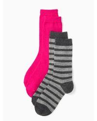 kate spade new york | Multicolor Cashmere Stripe Sparkle Sock Set | Lyst