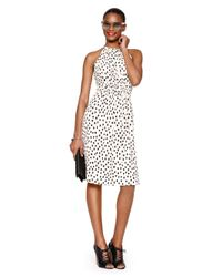 kate spade new york | Pink Leopard Dot Tie Back Dress | Lyst