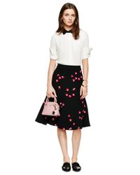 kate spade new york | Black Falling Florals Skirt | Lyst