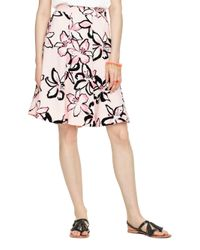 kate spade new york | Natural Tiger Lily Crepe Skirt | Lyst