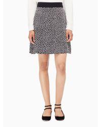 kate spade new york | Black Spot Silk Flip Skirt | Lyst