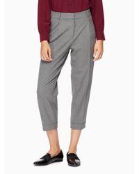 kate spade new york | Gray Cuffed Trouser | Lyst