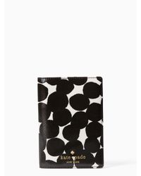 kate spade new york | Black Cedar Street Blot Dot Passport Holder | Lyst