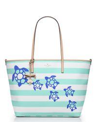 kate spade new york | Green Breath Of Fresh Air Turtles Harmony Baby Bag | Lyst