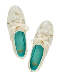 kate spade new york - White Keds For Glitter Sneakers - Lyst