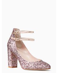 kate spade new york | Pink Baneera Heels | Lyst