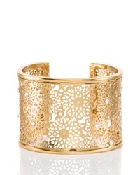 kate spade new york | Metallic Strike Gold Statement Cuff | Lyst