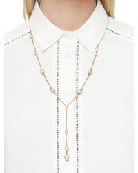 kate spade new york - Metallic Pearls Of Wisdom Y Necklace - Lyst