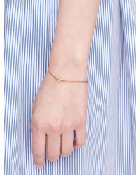 kate spade new york - Metallic Anchors Away Pave Anchor Solitaire Bracelet - Lyst