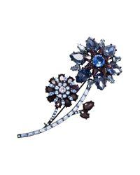 kate spade new york | Blue Trellis Blooms Large Brooch | Lyst