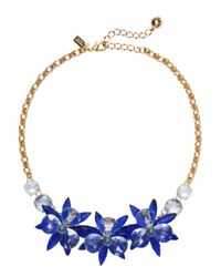 kate spade new york | Blue Blooming Brilliant Small Necklace | Lyst