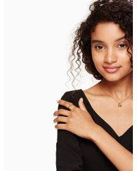 Kate Spade - Metallic It's A Tie Bow Ring - Lyst