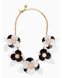 kate spade new york | Black Pick A Posy Statement Necklace | Lyst