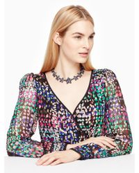 Kate Spade - Multicolor Bright Star Collar Necklace - Lyst