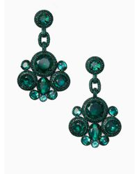 kate spade new york - Green Absolute Sparkle Statement Earrings - Lyst