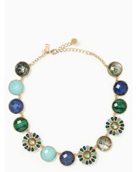 Kate Spade - Blue Peacock Way Necklace - Lyst