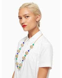 Kate Spade | Multicolor Brilliant Bauble Long Necklace | Lyst