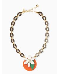 kate spade new york | Multicolor Citrus Crush Short Necklace | Lyst