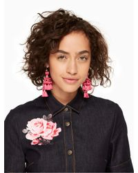 Kate Spade - Pink Pretty Poms Tassel Statement Earrings - Lyst