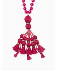 kate spade new york - Pink Pretty Poms Tassel Pendant - Lyst