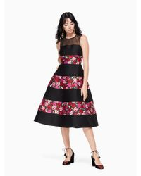 Kate Spade - Black Salon Rose Palma Dress - Lyst