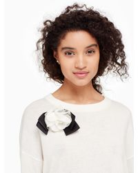 Kate Spade - Natural Rosette Bow Sweater - Lyst