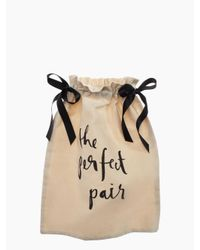 Kate Spade | Natural The Perfect Pair Shoe Bag | Lyst