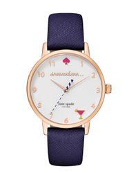 Kate Spade - Blue 5 O'clock Metro Watch - Lyst