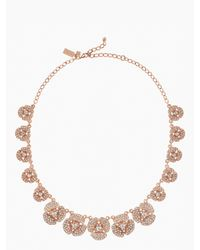Kate Spade - Pink Disco Pansy Single Strand Short Necklace - Lyst