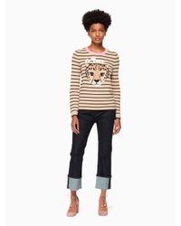 Kate Spade - Multicolor Leopard Stripe Sweater - Lyst