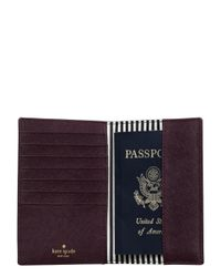 Kate Spade - Purple Cameron Street Travel Passport Holder - Lyst