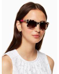 Kate Spade - Pink Charmine Sunglasses - Lyst