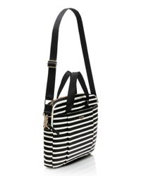 Kate Spade - Black Classic Nylon Stripe Laptop Commuter Bag - Lyst