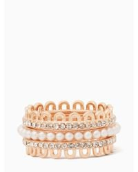 Kate Spade | Multicolor Chantilly Charm Stackable Ring Set | Lyst