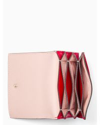 31975bf690ba Lyst - Kate Spade Eva Accordion Card Case in Red