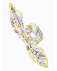 Kate Spade - Gray Taxi Square Scarf - Lyst