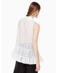 kate spade new york - White Caila Top - Lyst