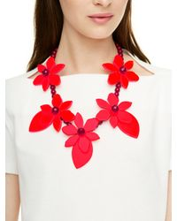 kate spade new york   Red Color Pop Necklace   Lyst