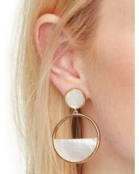 kate spade new york - White Kate Spade Earrings Drop Hoop Earrings - Lyst