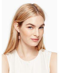 kate spade new york | Metallic Make Magic Champagne Drop Earrings | Lyst
