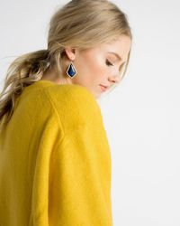 Kendra Scott - Blue Alex Gold Drop Earrings - Lyst